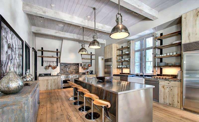 عکس دکوراسیون آشپزخانه روستیک