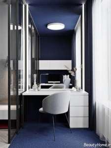ترکیب رنگ آبی و قرمز در دکوراسیون اتاق خواب مستر