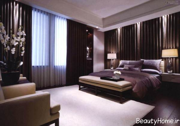 پرده زیبا برای فضای اتاق خواب