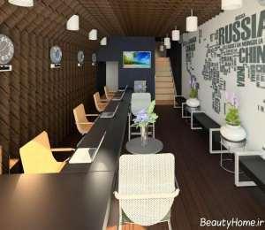 طراحی داخلی آژانس مسافرتی