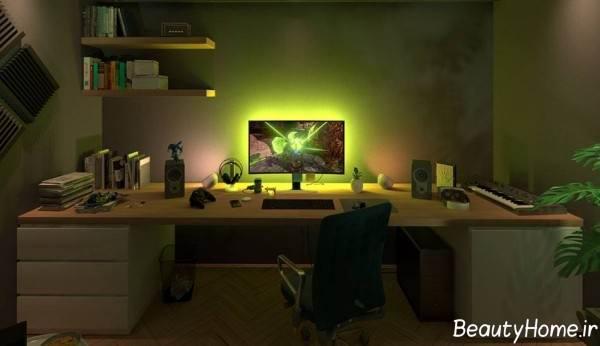 طراحی نورپردازی برای اتاق گیم