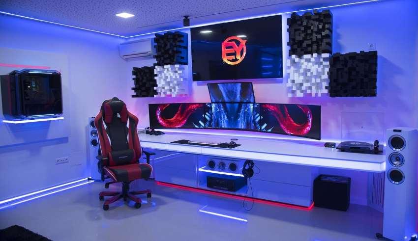 طراحی اتاق گیمینگ زیبا و پرانرژی با ایده های جدید