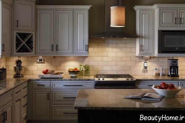 طراحی نور مخفی آشپزخانه
