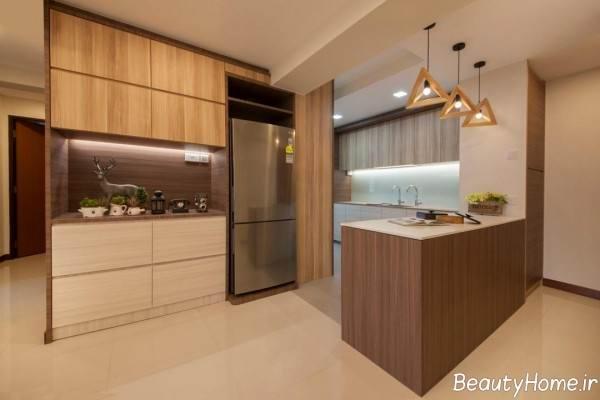 طراحی نورپردازی مخفی آشپزخانه