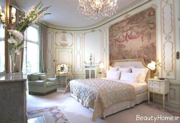 دکوراسیون داخلی اتاق خواب با سبک روکوکو