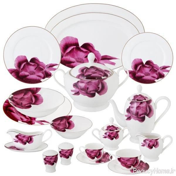 سرویس غذاخوری گلدار
