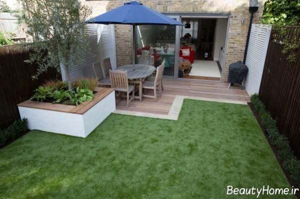 طرح زیبا باغ کوچک