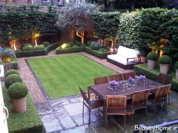 طرح زیبا و کاربردی باغ کوچک