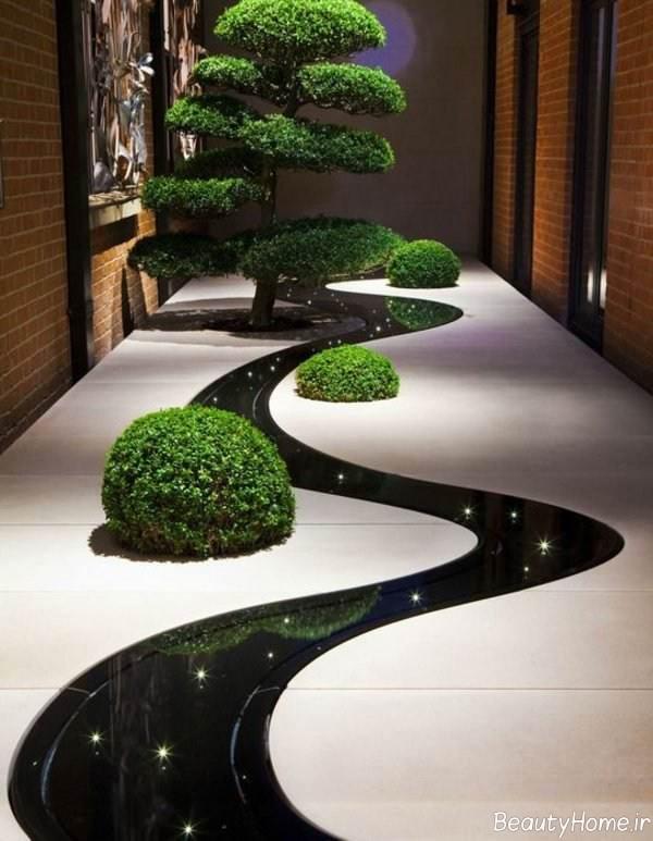طراحی راهروی باغ
