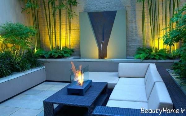 طراحی نورپردازی باغ کوچک