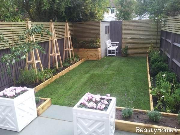 طراحی باغ زیبا و کوچک