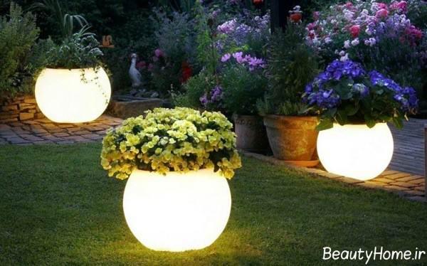 نورپردازی باغ کوچک