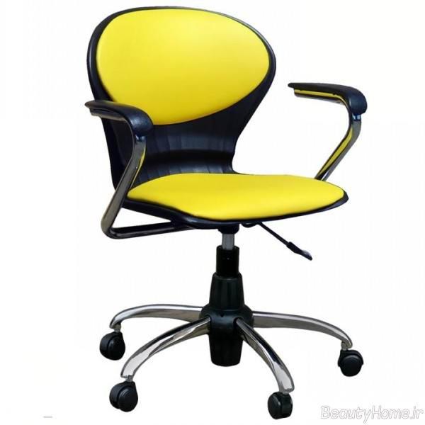 صندلی اداری دو رنگ