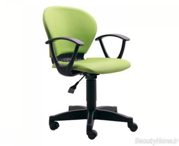 صندلی گردان سبز