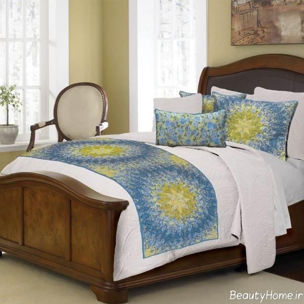 شال طرح دار و زیبا برای تخت خواب