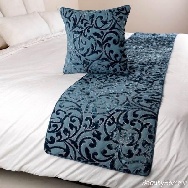 مدل شال طرح دار برای تخت خواب