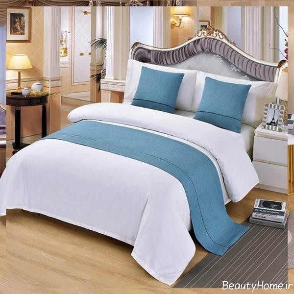 شال تخت آبی ساده
