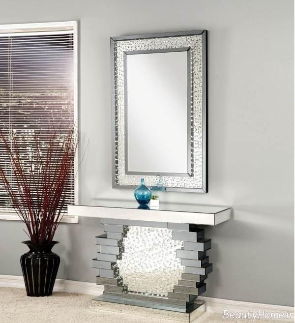 کنسول آینه ای شیک و زیبا