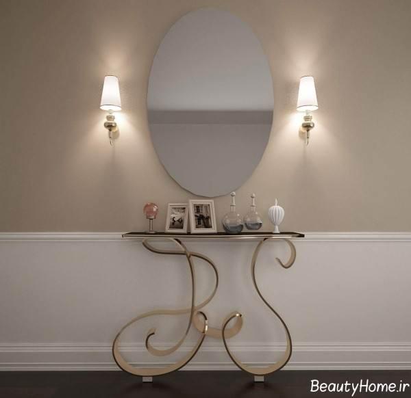 مدل آینه و کنسول ساده