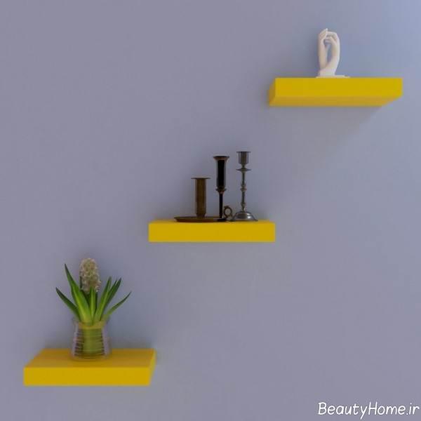 تزیین خانه با شلف دیواری کوچک