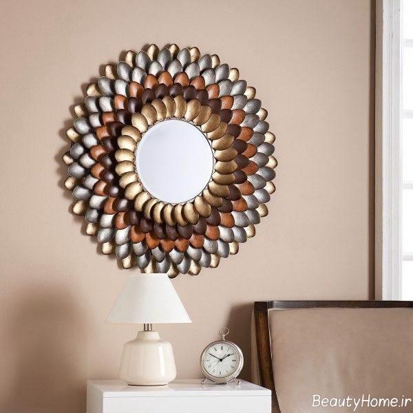 تزئین دیوار اتاق خواب با آینه