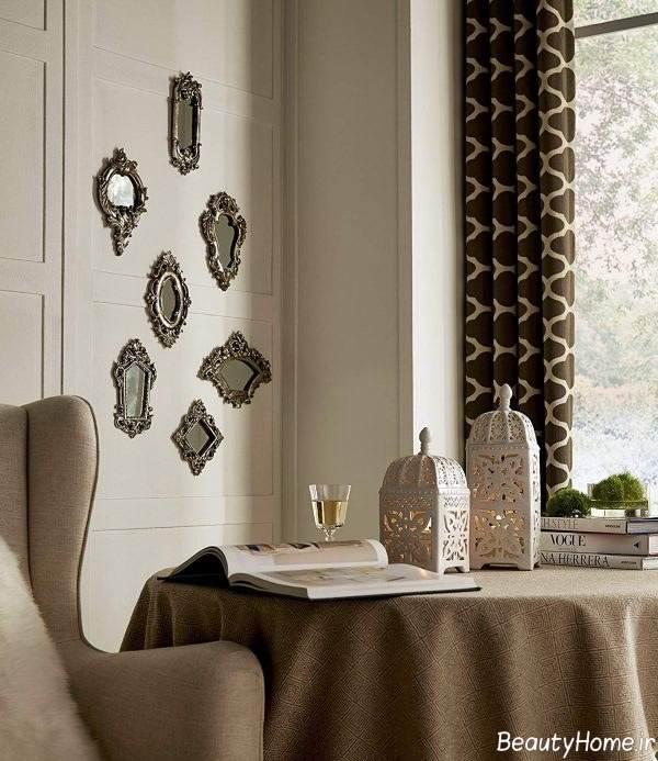 تزئین شیک دیوار با آینه