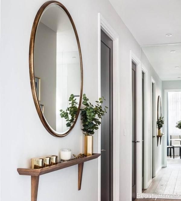تزیین دیوار راهرو با آینه