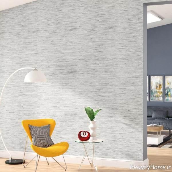 کاغذ دیواری ساده خاکستری