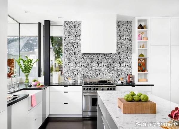 کاغذ دیواری آشپزخانه طوسی