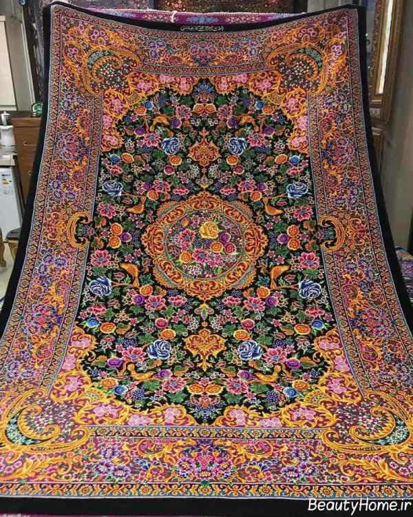 فرش طرح دار و شیک ایرانی
