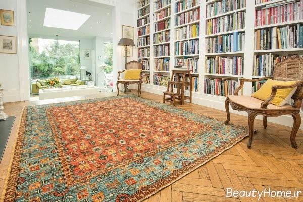 فرش زیبا و شیک دستباف