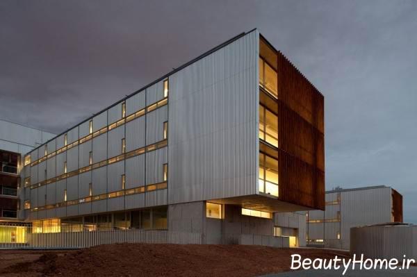 نمای مدرن ساختمان پزشکان