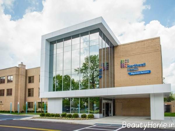 نمای شیشه ساختمان پزشکان