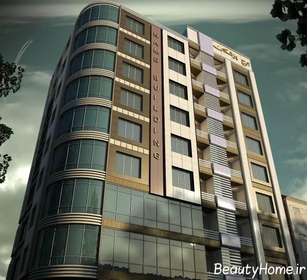 نمای ساختمان چند طبقه برای پزشکان