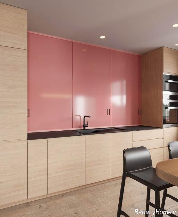 استفاده از رنگ صورتی در دکوراسیون آشپزخانه