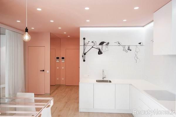 دکوراسیون داخلی منزل با رنگ صورتی