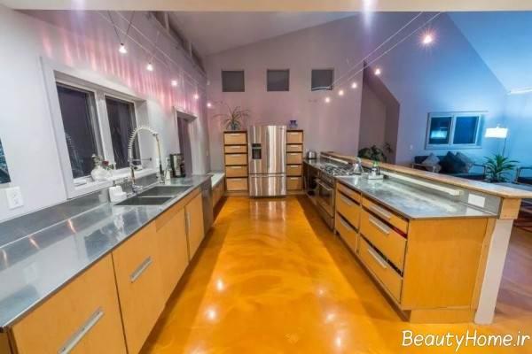 نورپردازی آشپزخانه مستطیل شکل