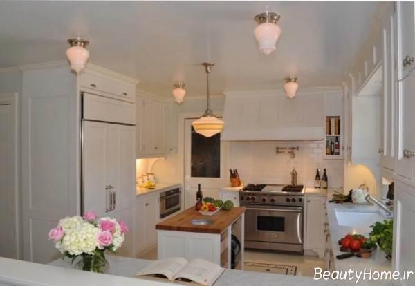 نورپردازی آشپزخانه مستطیل
