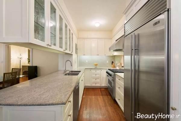 ایده هایی برای طراحی دکوراسیون آشپزخانه مستطیل