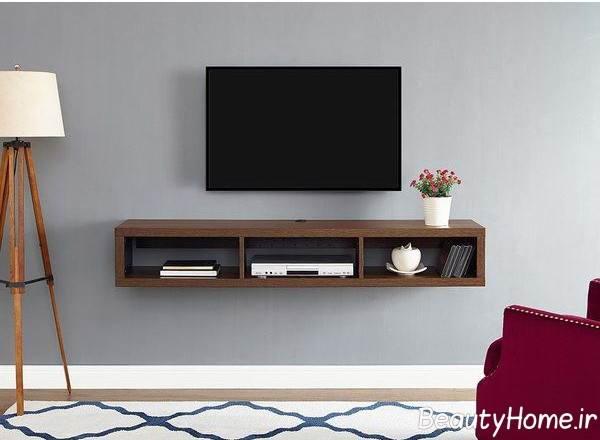 میز تلویزیون دیواری کوچک