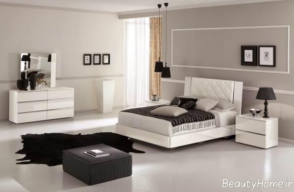 سرویس خواب مدرن و سفید