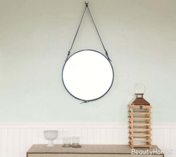 آینه گرد دیواری