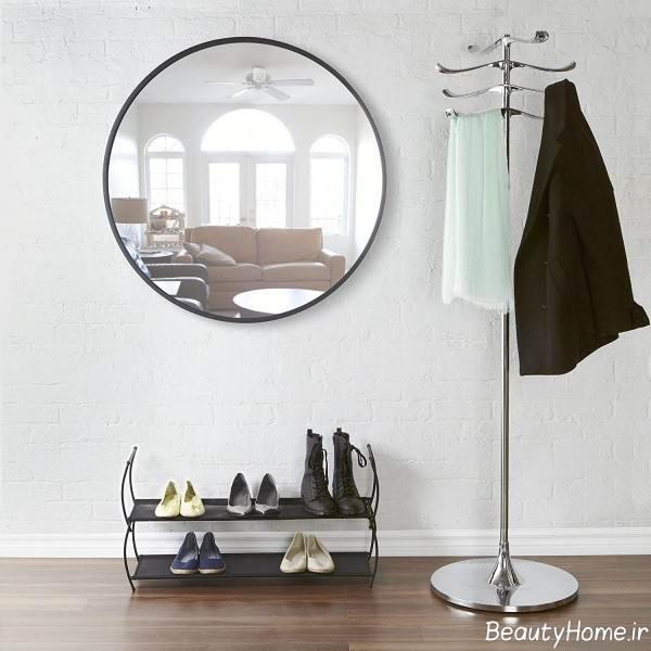آینه دیواری گرد و شیک