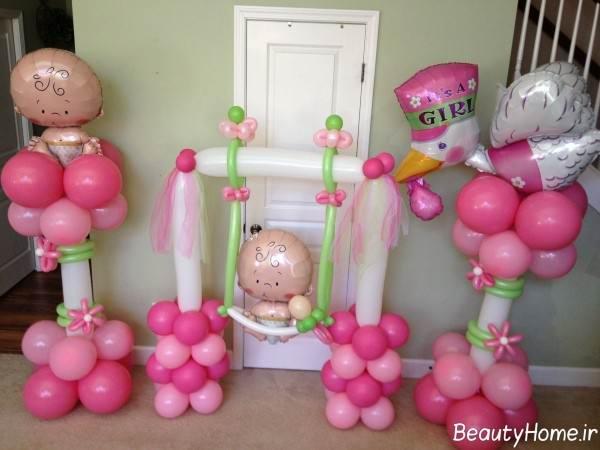 تزیین اتاق نوزاد با بادکنک