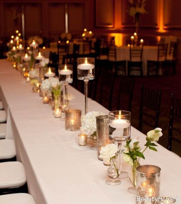 شمع آرایی ساده میز