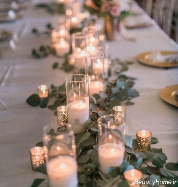 تزیین خاص میز با شمع