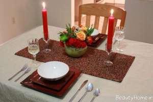تزیین ساده میز به کمک شمع