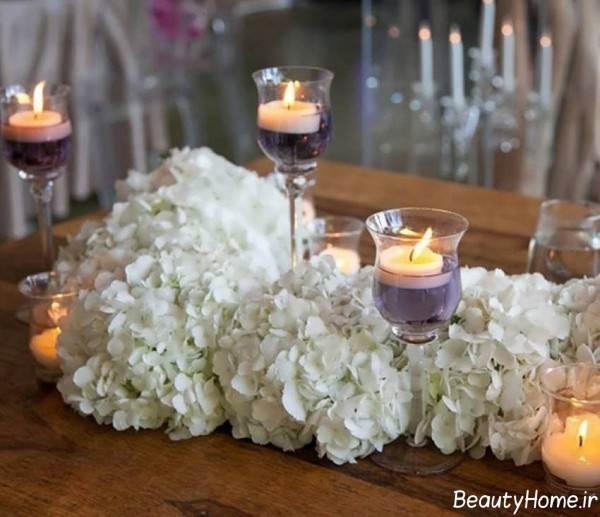 تزیین میز به کمک شمع و گل