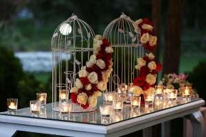 تزیین میز با شمع
