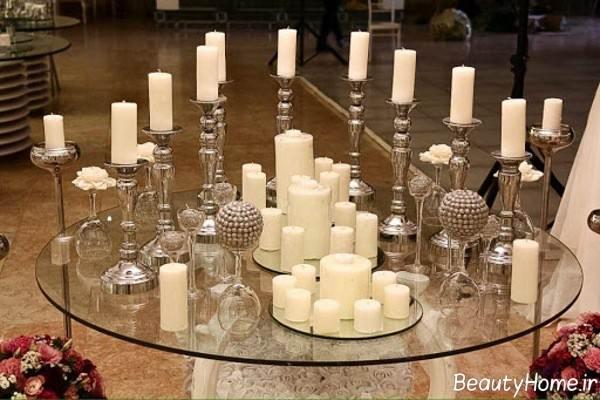 تزیین میز به کمک شمع